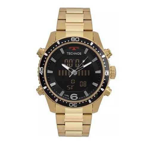 Relógio Masculino Technos Bjk203aad/4p Digital E Analógico Dourado
