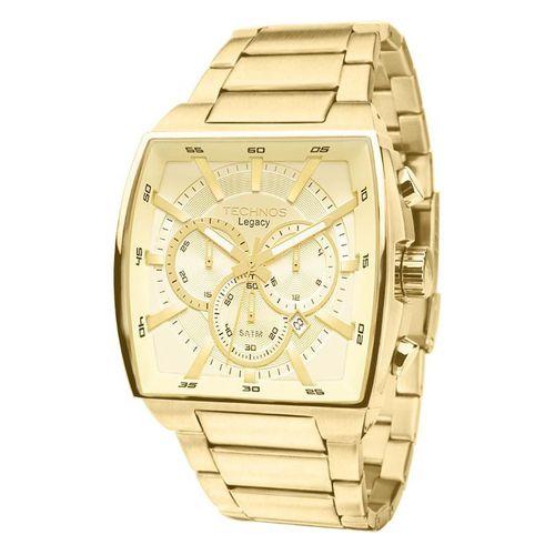 Relógio Technos Masculino JS25AL/4X Quadrado Dourado