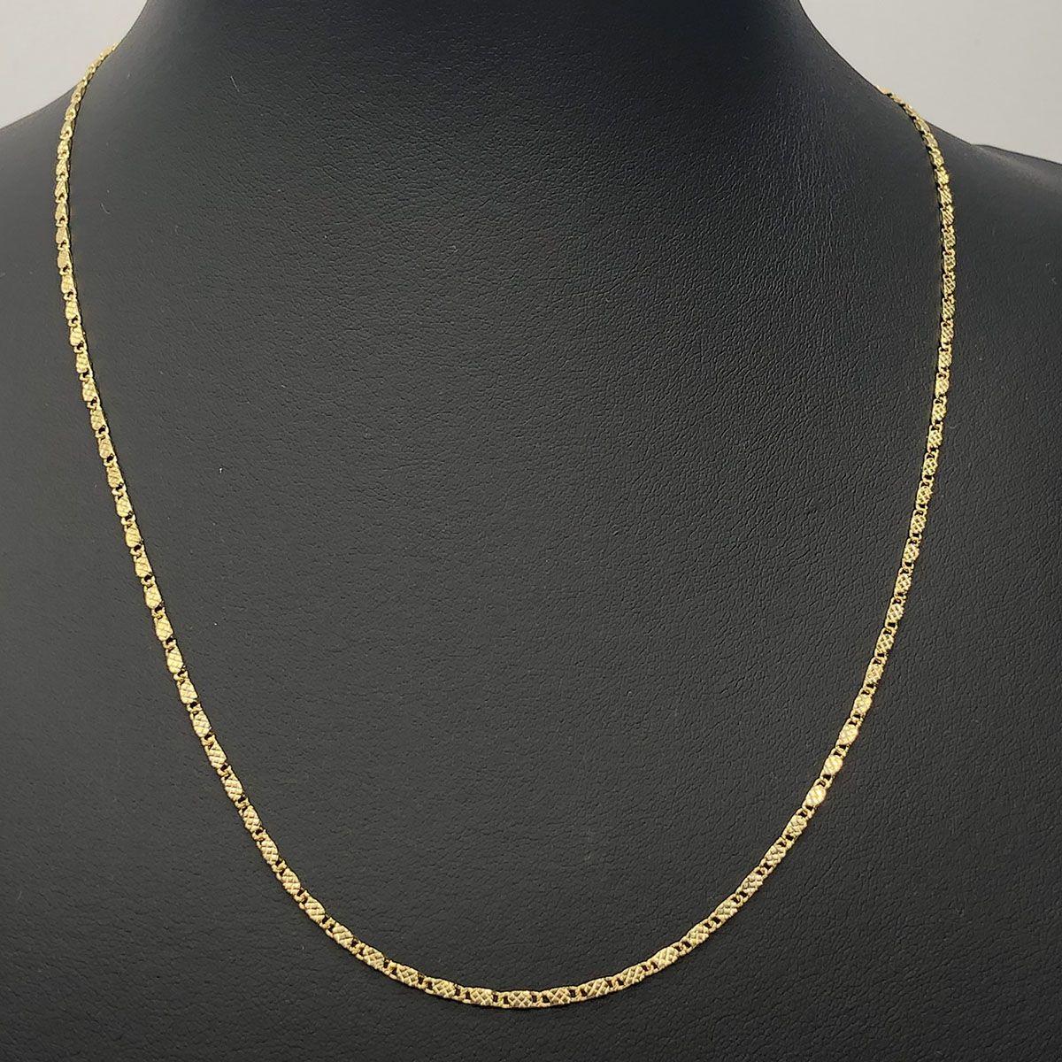 Corrente Diamantada 45cm Banhada a Ouro 18K