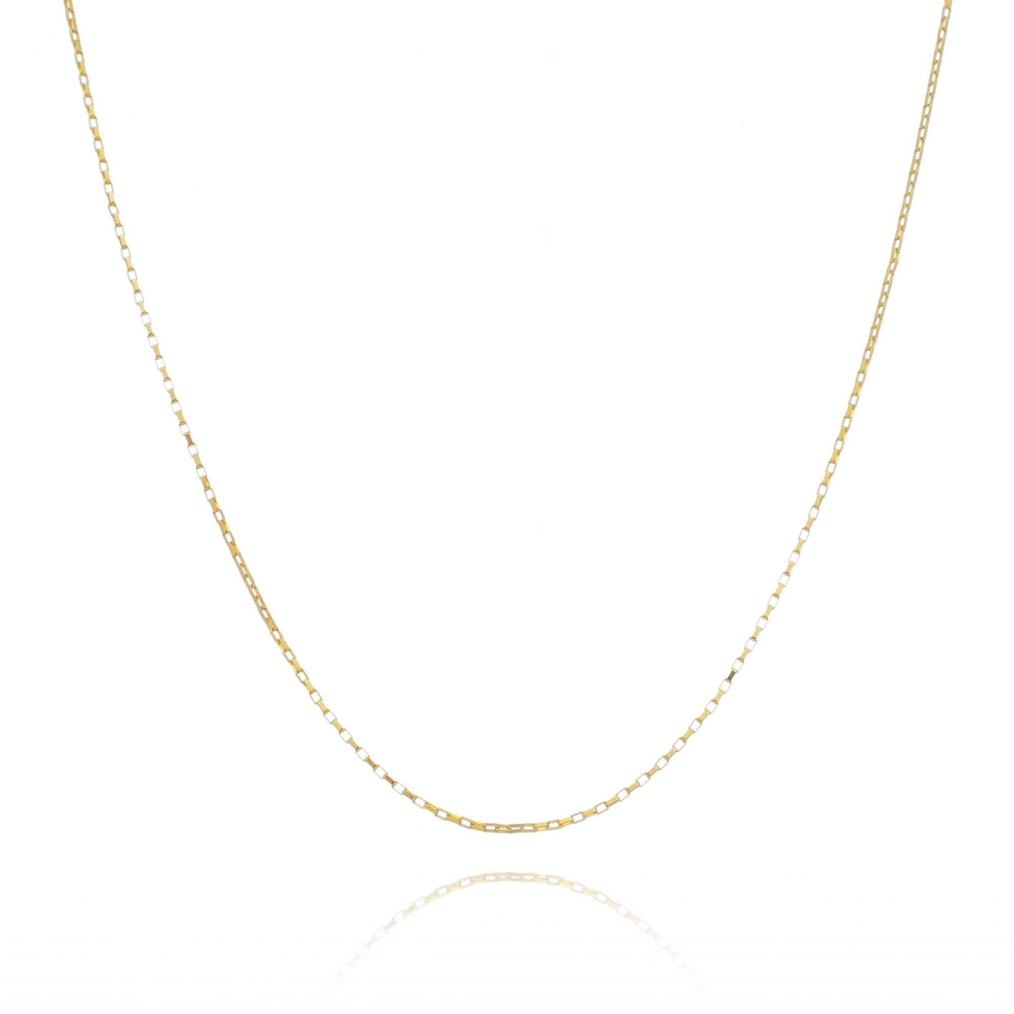 Corrente Veneziana Longa 45cm Banhada a Ouro 18K