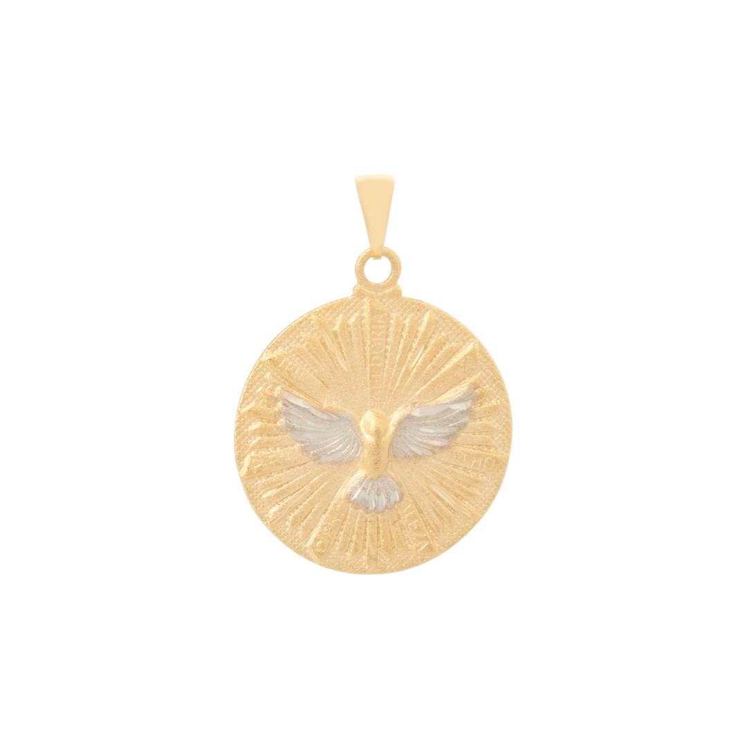 Pingente Mandala Espírito Santo Banhado a Ouro 18k