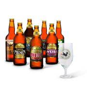 Kit degustação Edelbrau 7 cervejas + copo Edelbrau Windsor