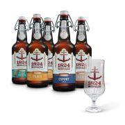 Kit degustação Imigração 5 cervejas 500 ml + copo Hannover personalizado