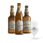 Kit degustação Leopoldina 3 cervejas + Taça Tulipa Leopoldina