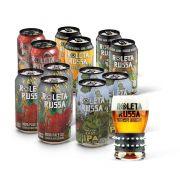 Kit degustação Roleta Russa 12 latas 350ml + copo 320ml com pulseira
