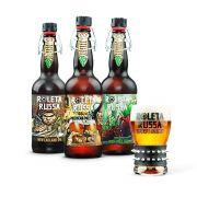 Kit degustação Roleta Russa 3 cervejas 500ml + copo 320ml com pulseira