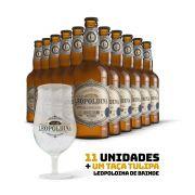 Kit Leopoldina Bohemian Pilsner 500ml 11 cervejas + Brinde Taça Tulipa Leopoldina