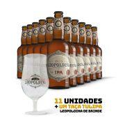Kit Leopoldina India Pale Ale IPA 500ml 11 cervejas + Brinde Taça Tulipa Leopoldina