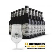 Kit Leopoldina Porter 500ml 11 cervejas + Brinde Taça Tulipa Leopoldina