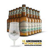 Kit Leopoldina Witbier 500ml 11 cervejas + Brinde Taça Tulipa Leopoldina