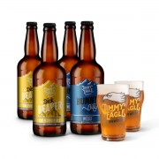 Kit presente Jimmy Eagle 4 cervejas 500ml + 2 copos Pint