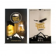 Kit presente Jimmy Eagle Califórnia Ale 500ml + copo Dublin