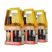 Pack 3 kit presente cerveja Roleta Russa Imperial IPA 355 ml + copo 320 ml com pulseira