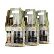 Pack 3 kit presente cerveja Roleta Russa India Pale Ale IPA 355 ml + copo 320 ml com pulseira