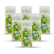 Pack Tupiniquim American Pale Ale Daily APA 6 cervejas 350ml