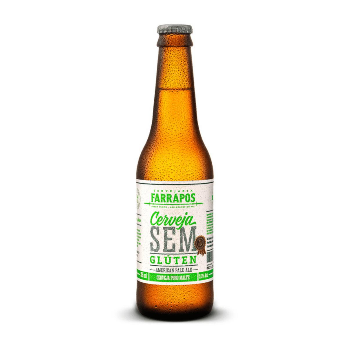 Cerveja Farrapos Sem Gluten American Pale Ale APA 355 ml