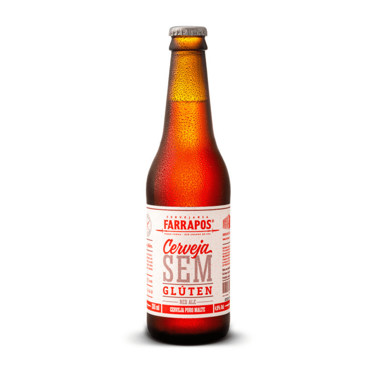 Cerveja Farrapos Sem Gluten Red Ale 355 ml