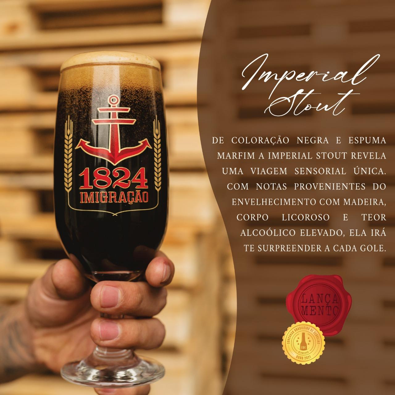 Cerveja imigração Imperial Stout 500ml  - RS BEER - Cervejas Gaúchas
