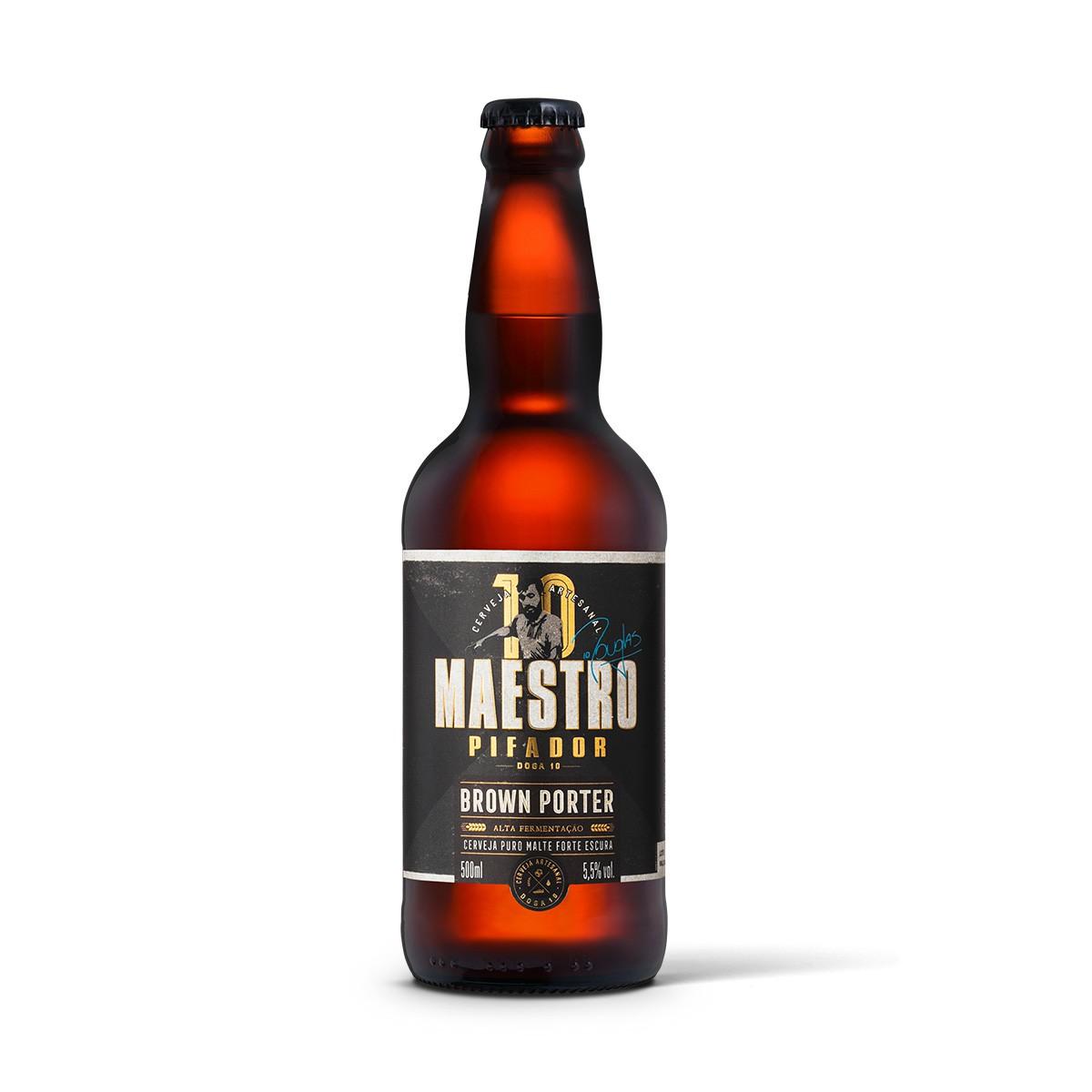 Maestro Pifador Doga 10 Brown Porter 500ml  - RS BEER - Cervejas Gaúchas