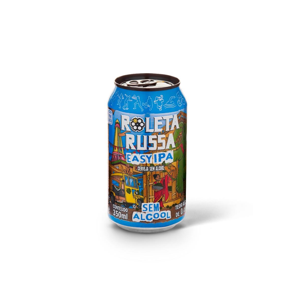 Roleta Russa Easy IPA sem álcool 350ml lata