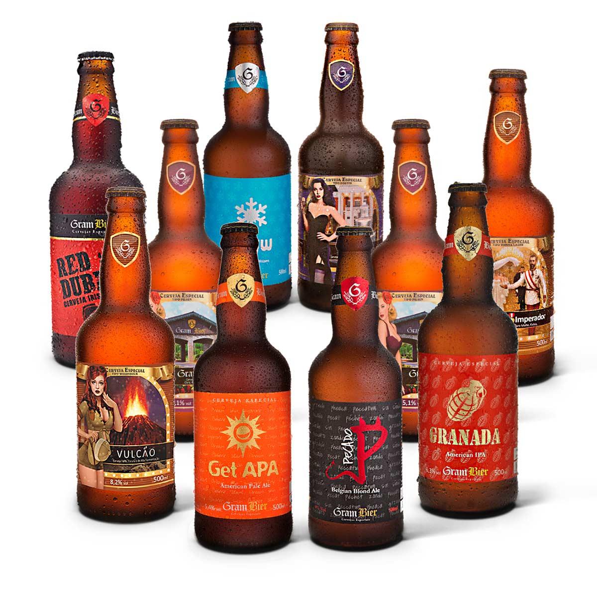 Kit degustação Gram Bier 10 cervejas 500ml