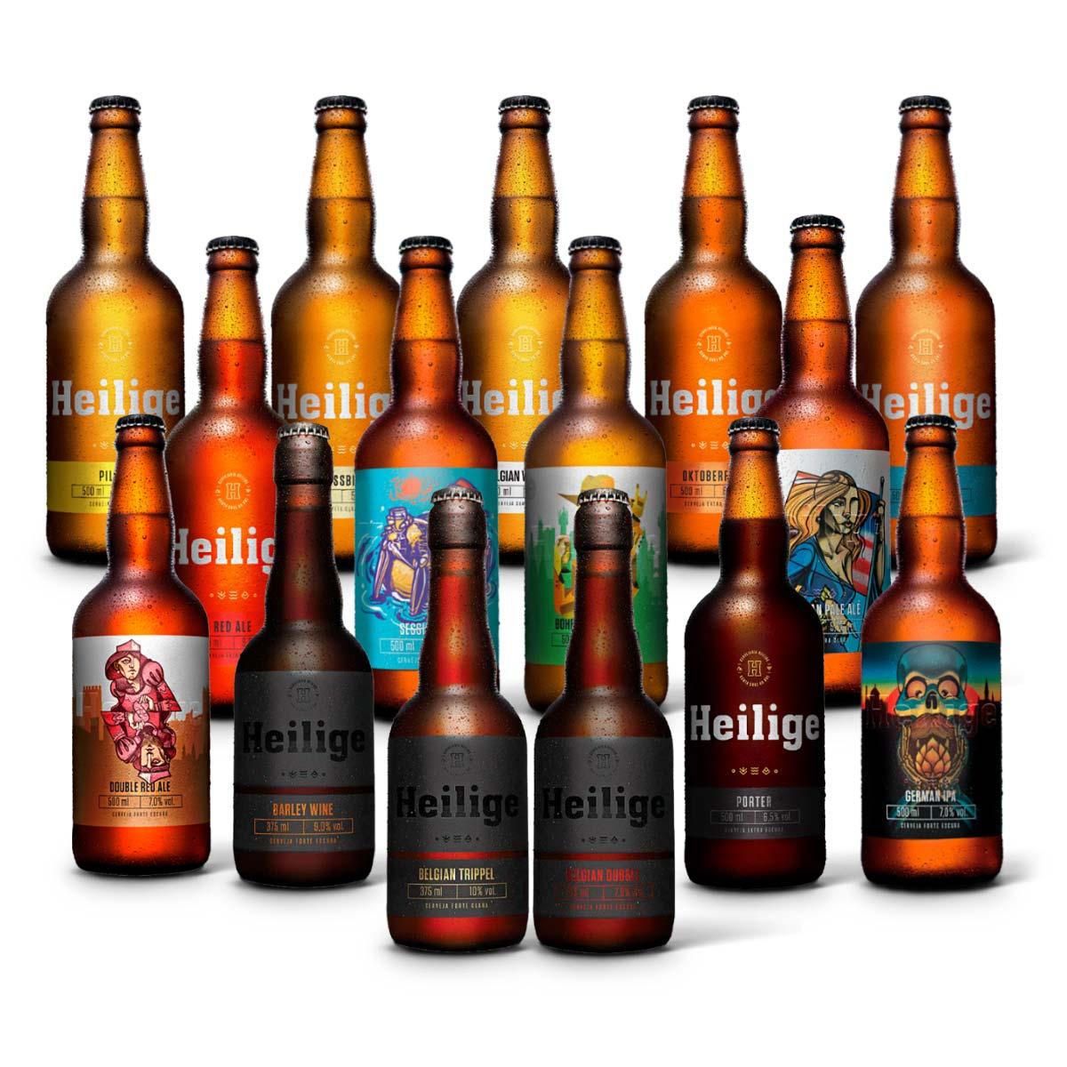 Kit degustação Heilige 15 cervejas