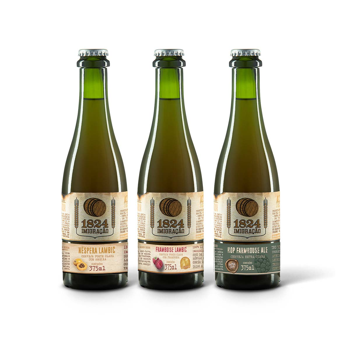 Kit degustação Imigração Sour Wood Aged 3 cervejas 375 ml