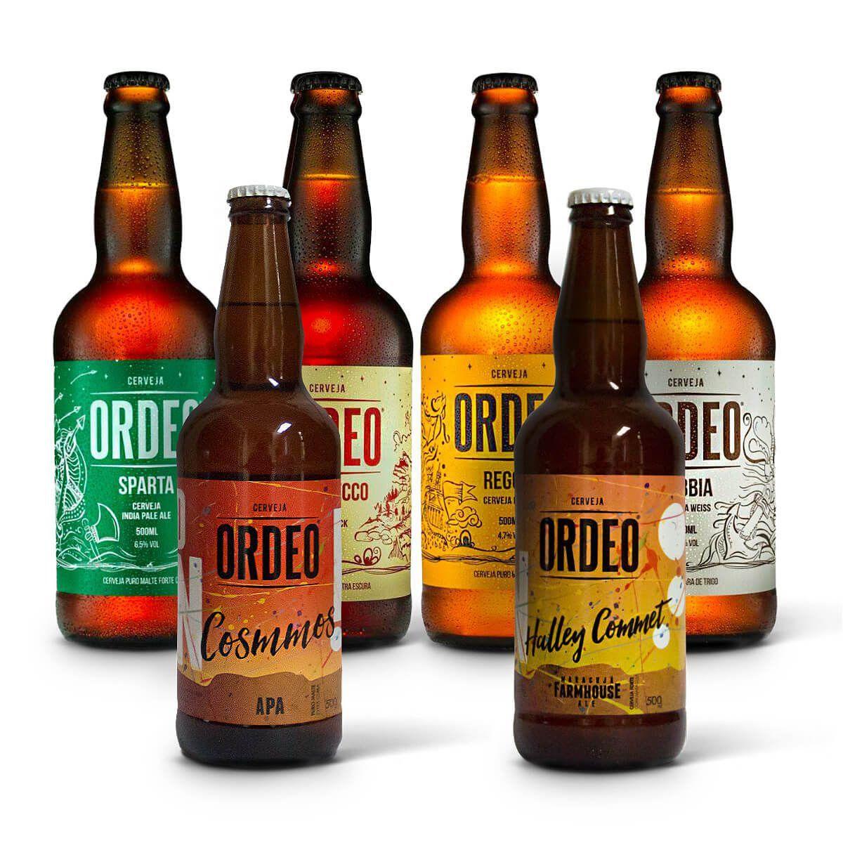 Kit degustação Ordeo 6 cervejas  - RS BEER - Cervejas Gaúchas