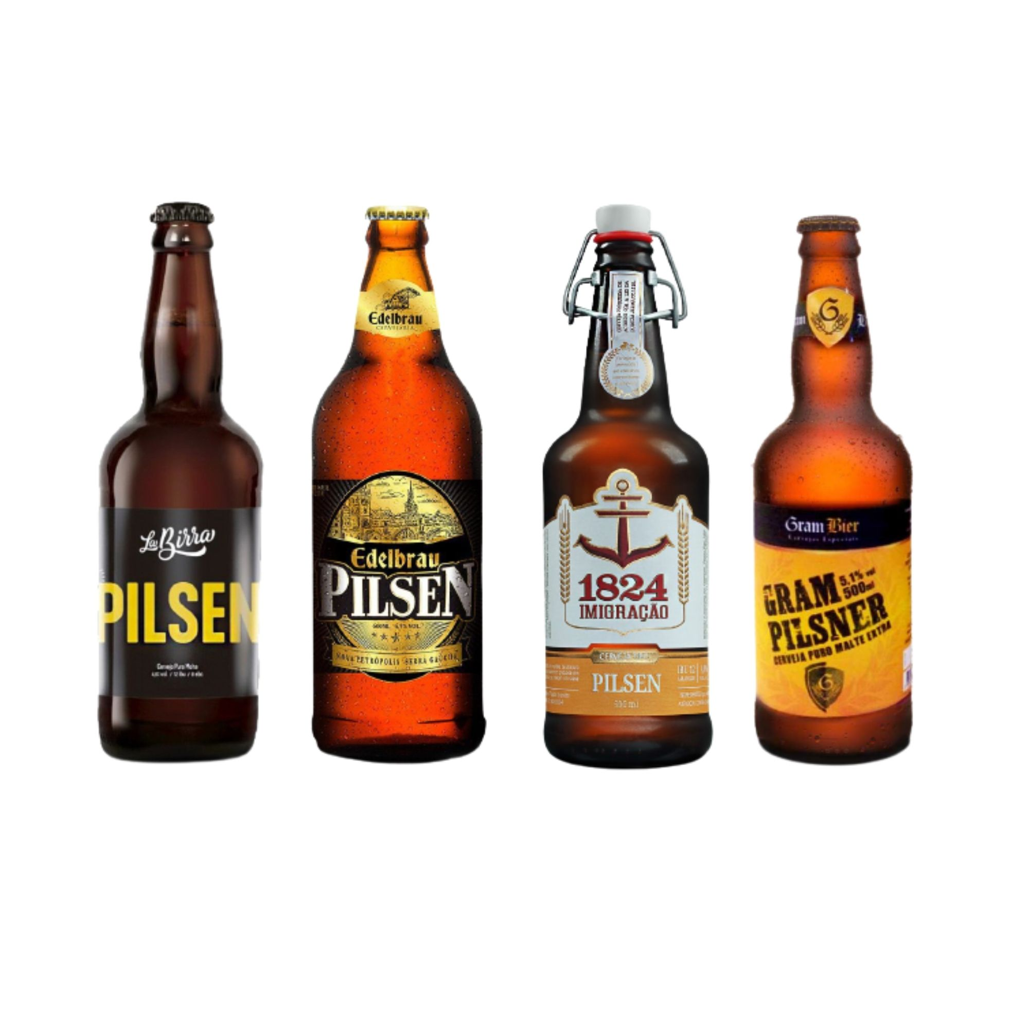 Kit degustação Pilsen 4 cervejas  - RS BEER - Cervejas Gaúchas