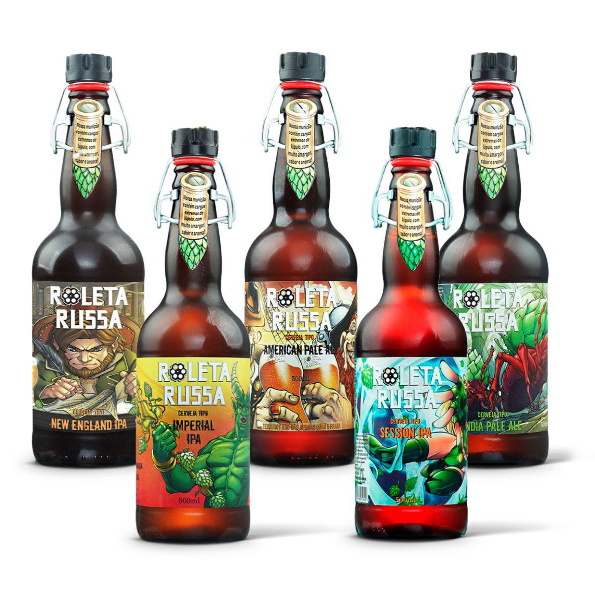 Kit degustação Roleta Russa 5 cervejas  - RS BEER - Cervejas Gaúchas
