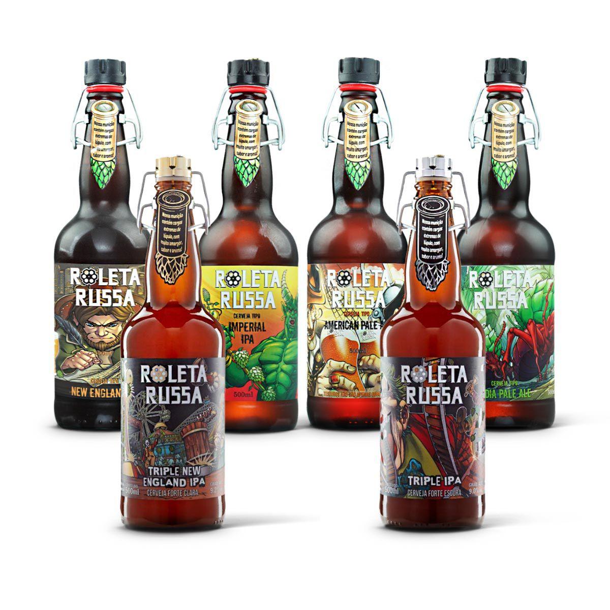 Kit degustação Roleta Russa 6 cervejas