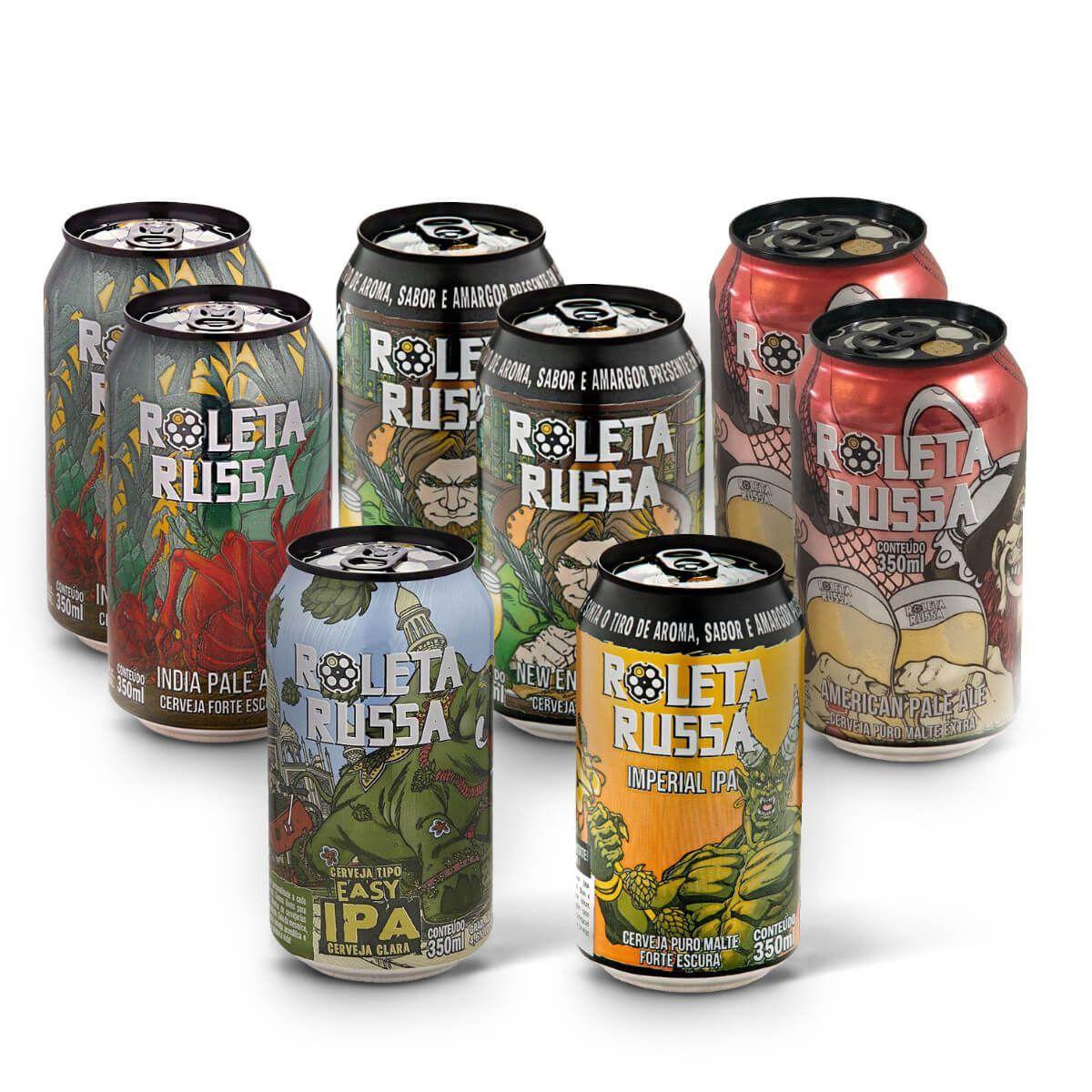 Kit degustação Roleta Russa 8 cervejas lata