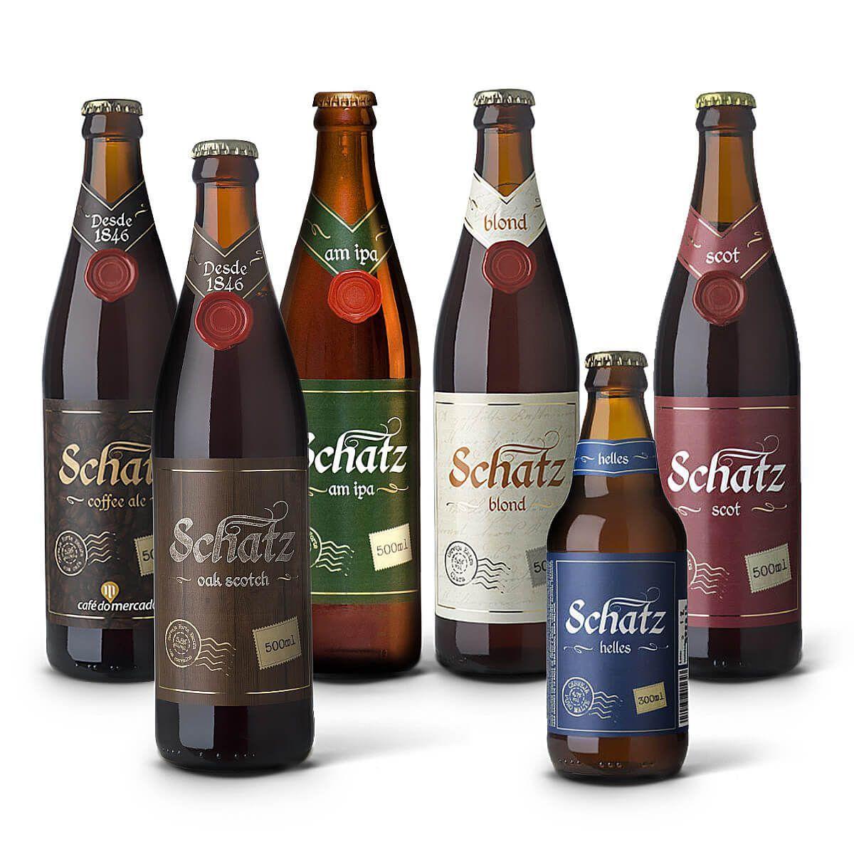 Kit degustação Schatz 6 cervejas
