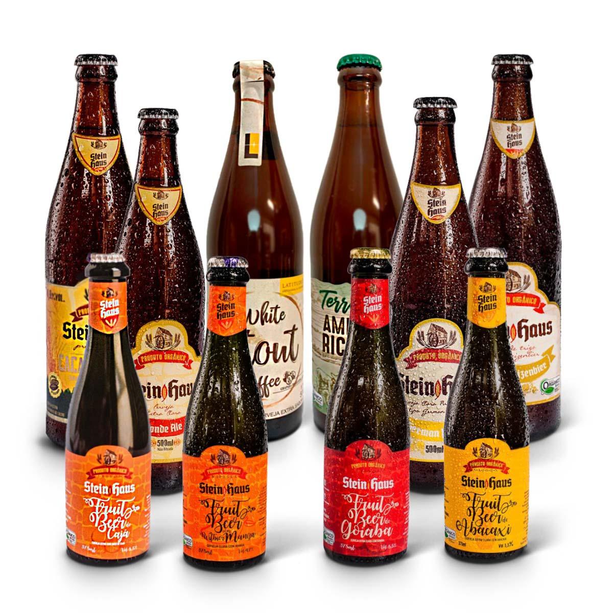 Kit degustação SteinHaus Orgânica 10 cervejas