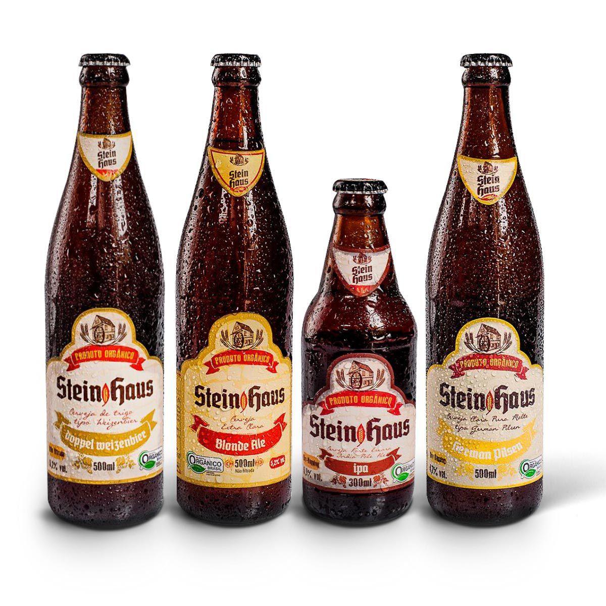 Kit degustação SteinHaus Orgânica 4 cervejas