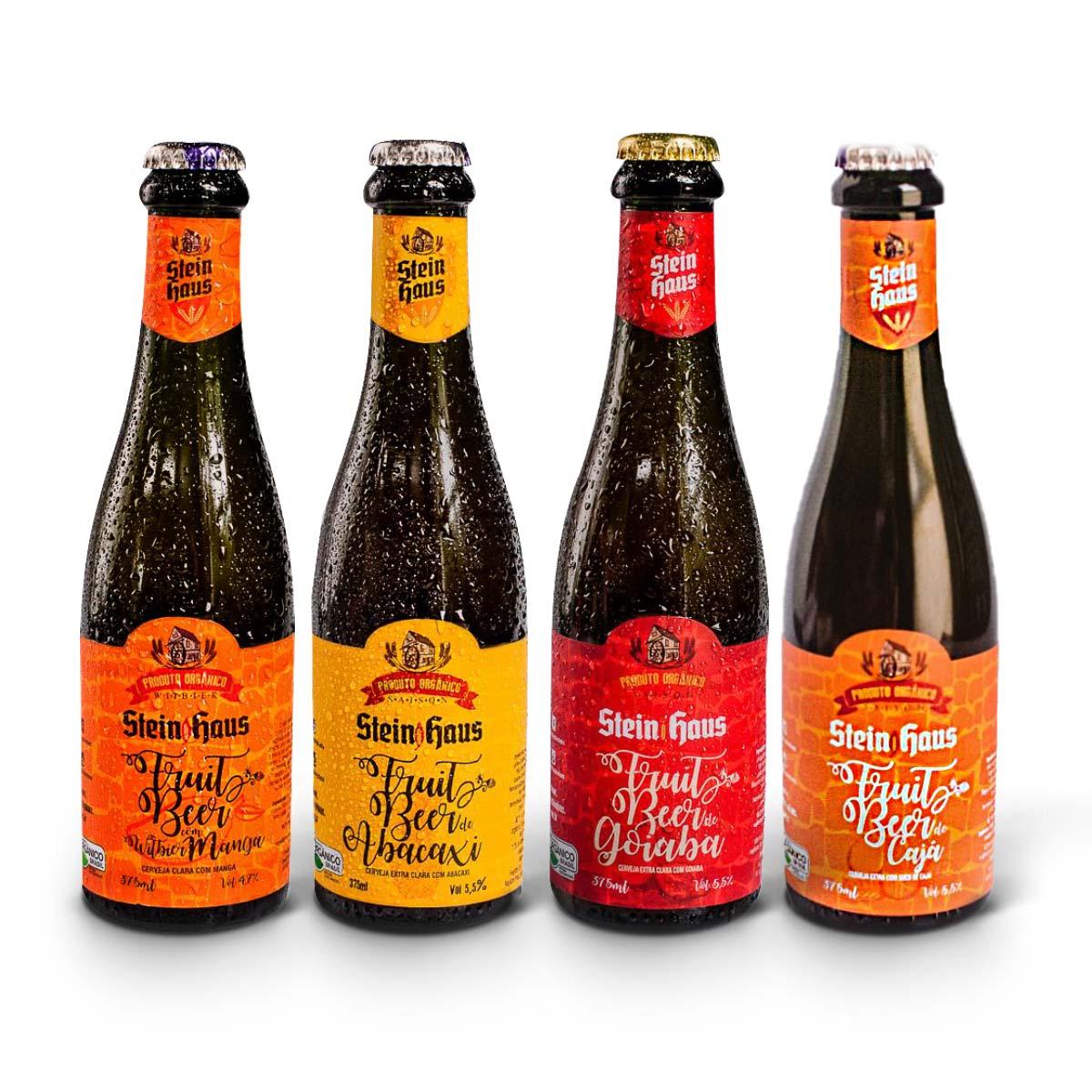 Kit degustação SteinHaus Orgânica Fruitbier 4 cervejas