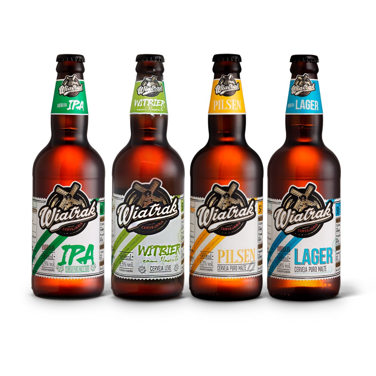 Kit degustação Wiatrak 4 cervejas 500ml
