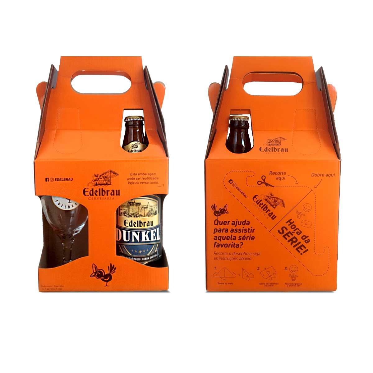 Kit presente Edelbrau Dunkel 600ml + copo Windsor