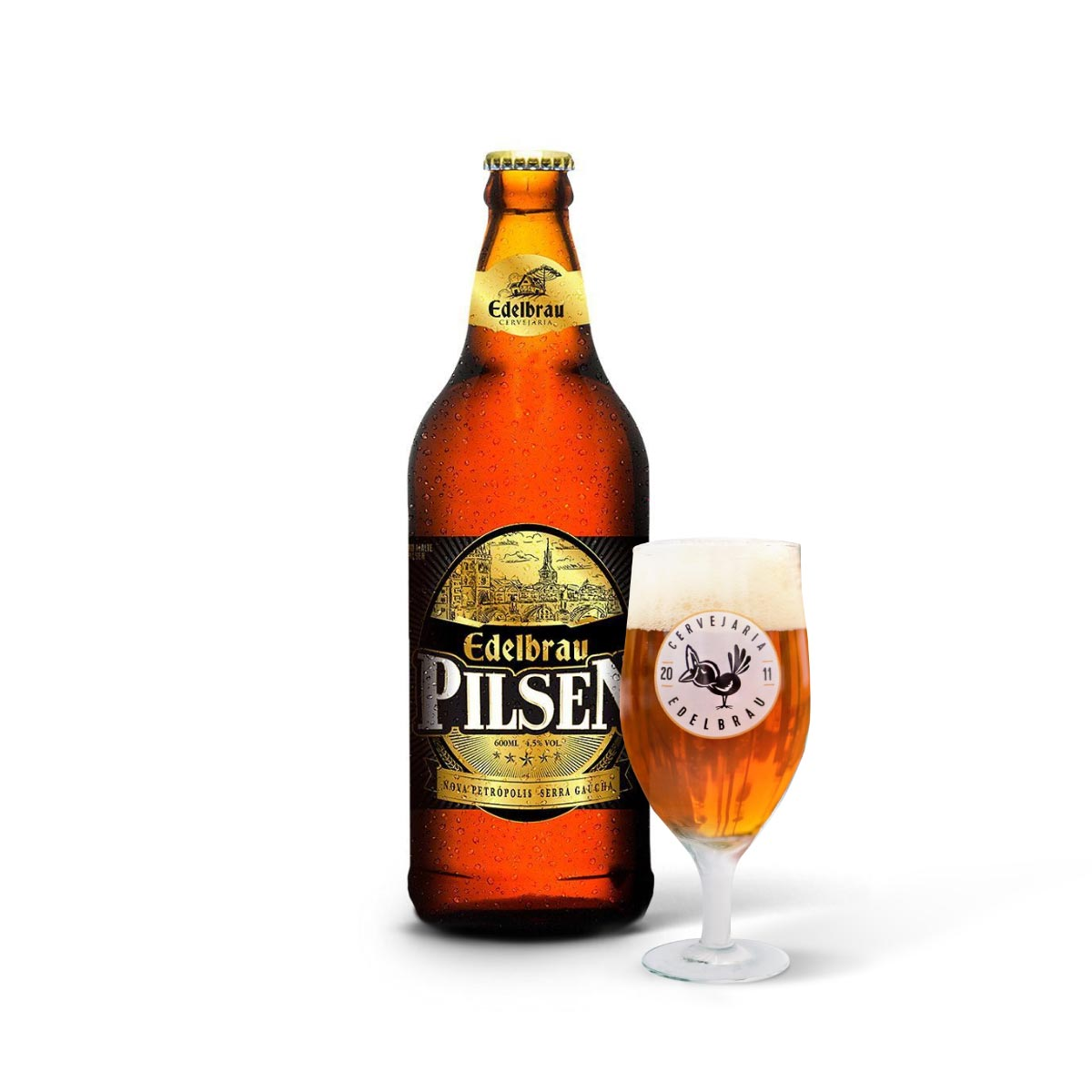 Kit presente Edelbrau Pilsen 600ml + copo Windsor