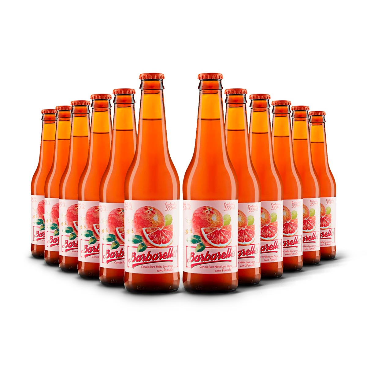Pack Barbarella Fruitbier Pomelo 12 cervejas 355ml