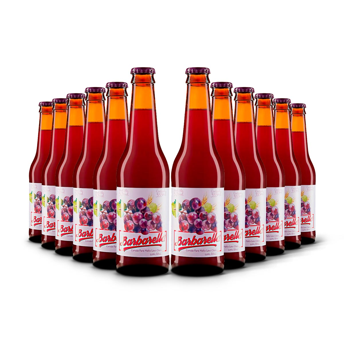 Pack Barbarella Fruitbier Uva 12 cervejas 355ml