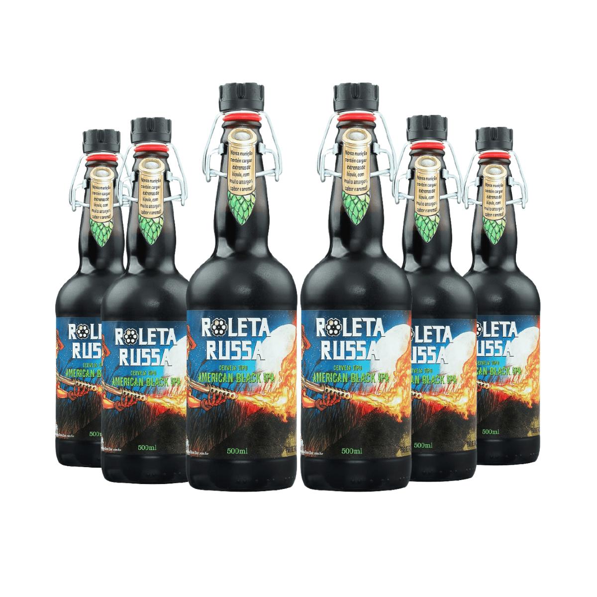 Pack Cerveja Roleta Russa American Black IPA 500ml