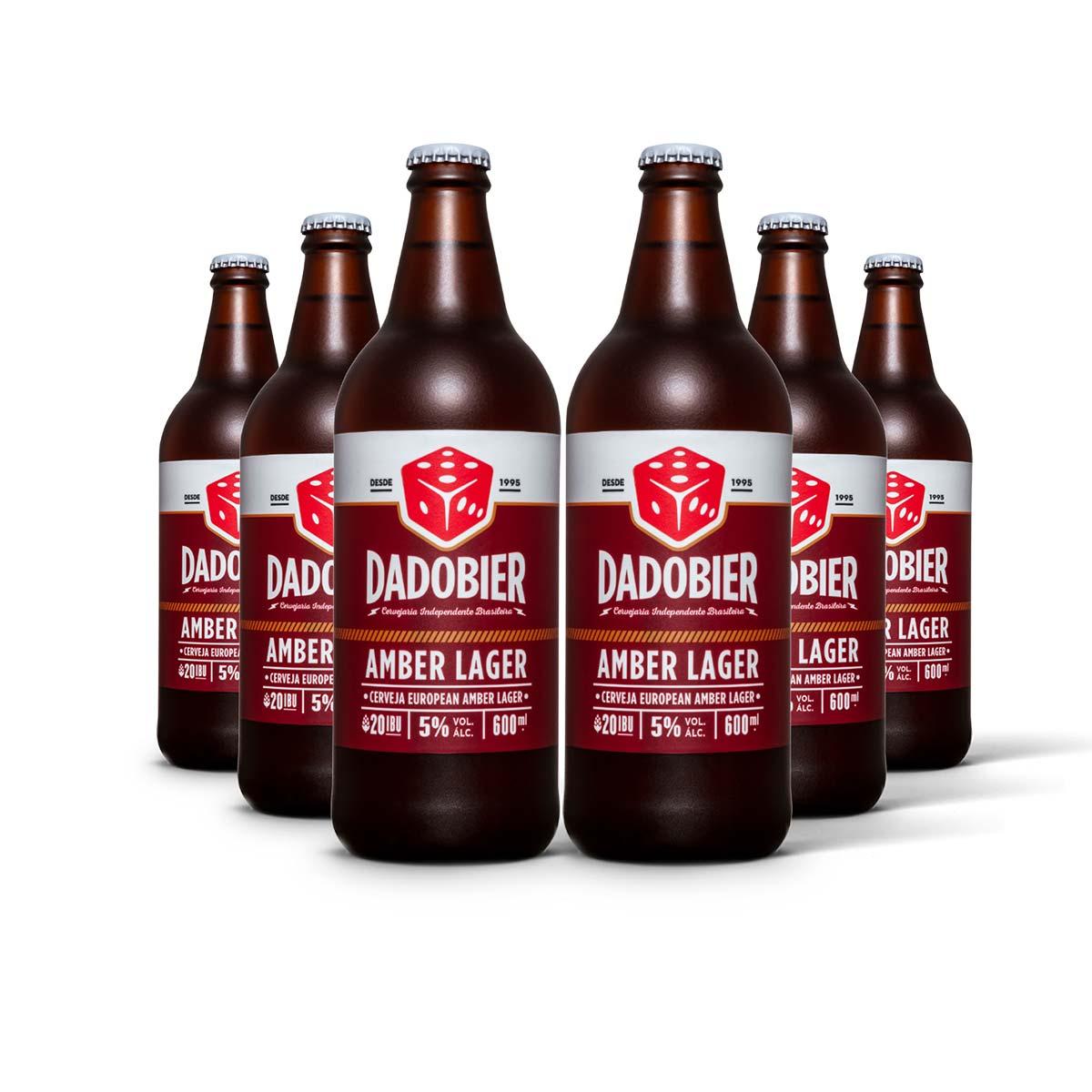 Pack Dado Bier Amber Lager 6 cervejas 600ml
