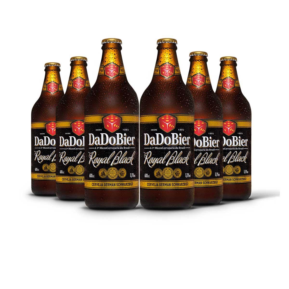 Pack Dado Bier Royal Black 6 cervejas 600ml