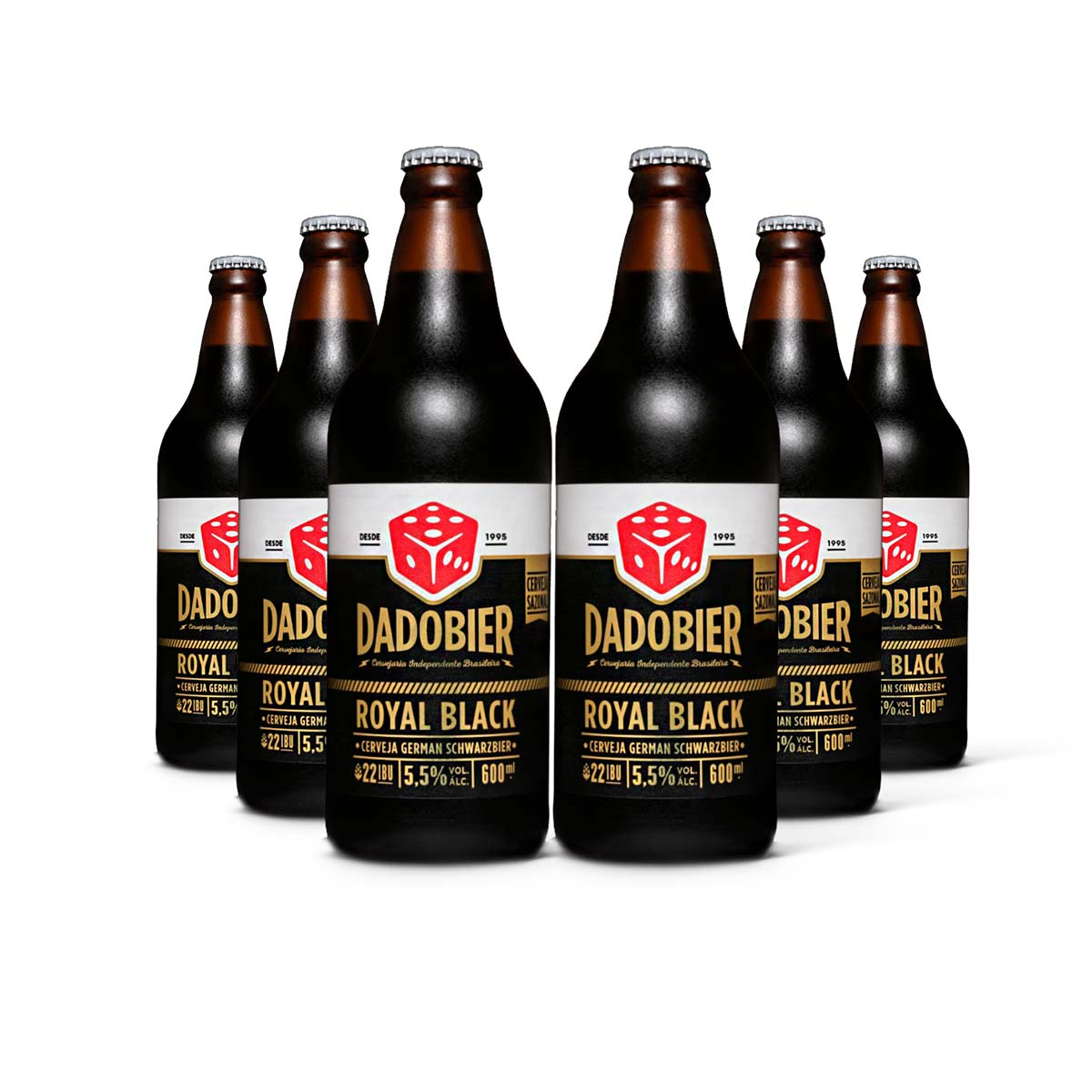 Pack Dado Bier Royal Black 6 cervejas 600ml