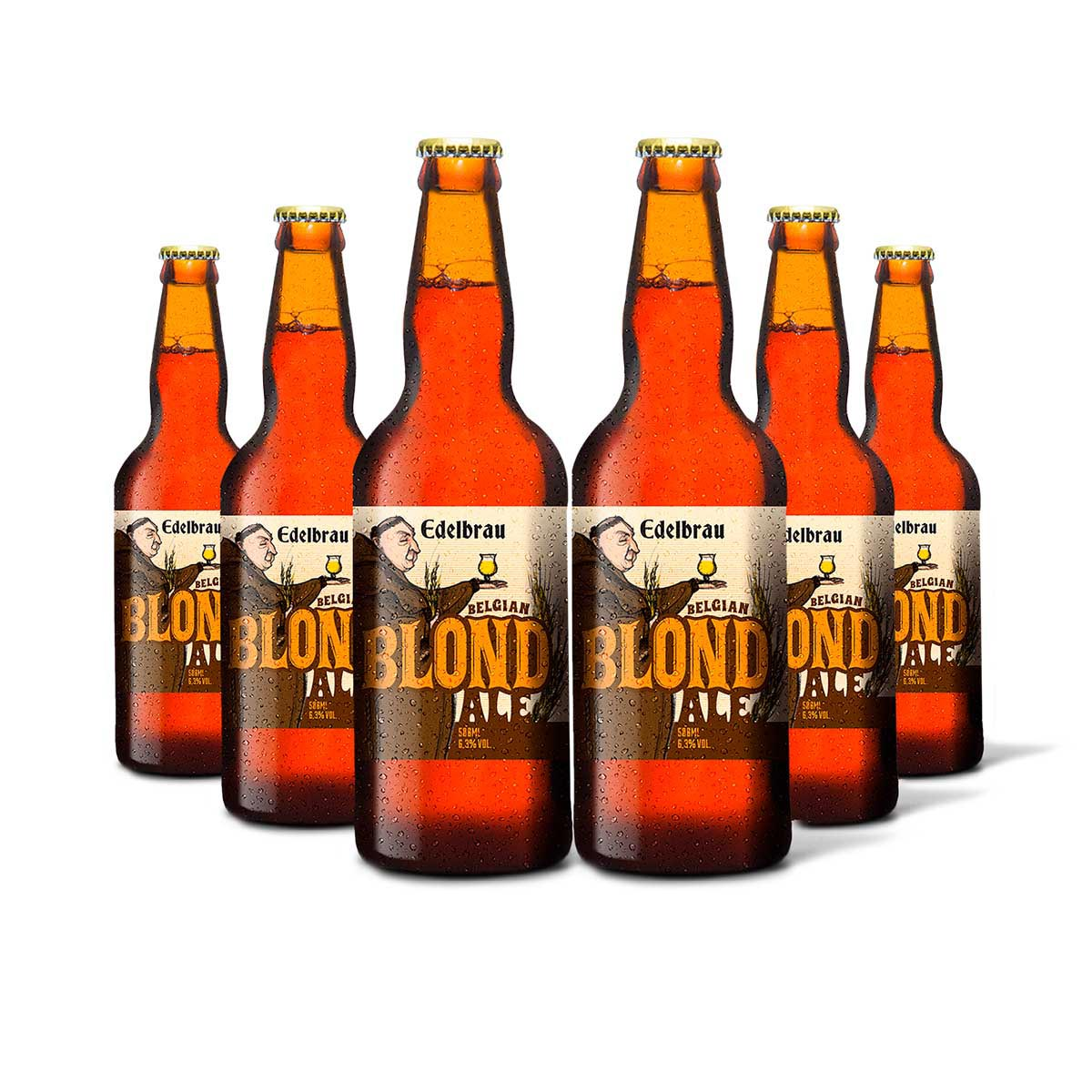 Pack Edelbrau Blond Ale 6 cervejas 500ml