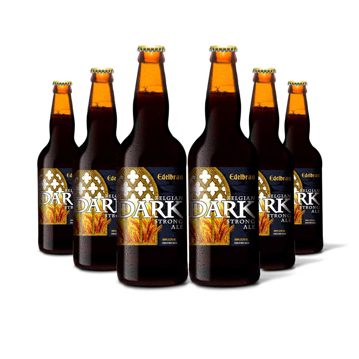 Pack Edelbrau Dark Strong Ale 6 cervejas 500ml