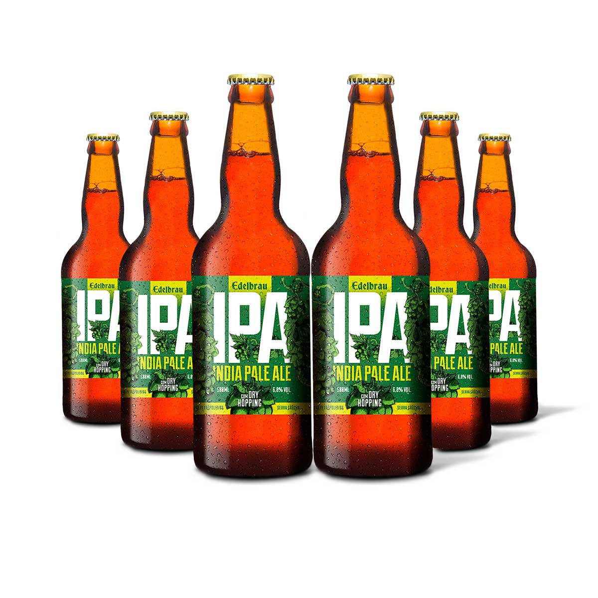 Pack Edelbrau India Pale Ale IPA 6 cervejas 500ml