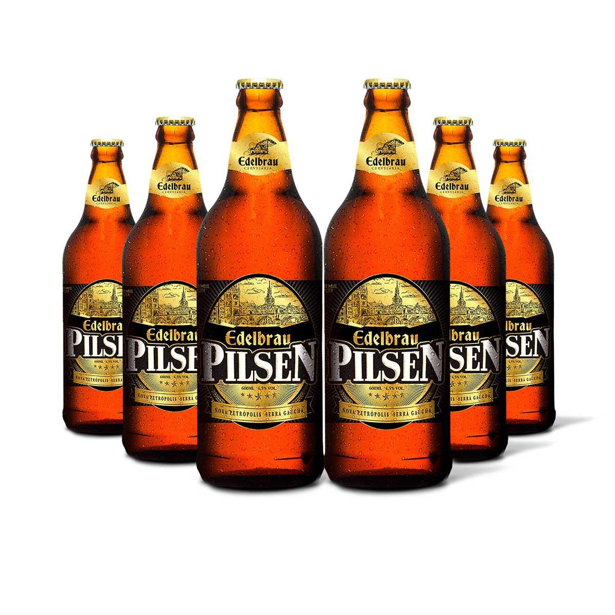 Pack Edelbrau Pilsen 6 cervejas 600ml