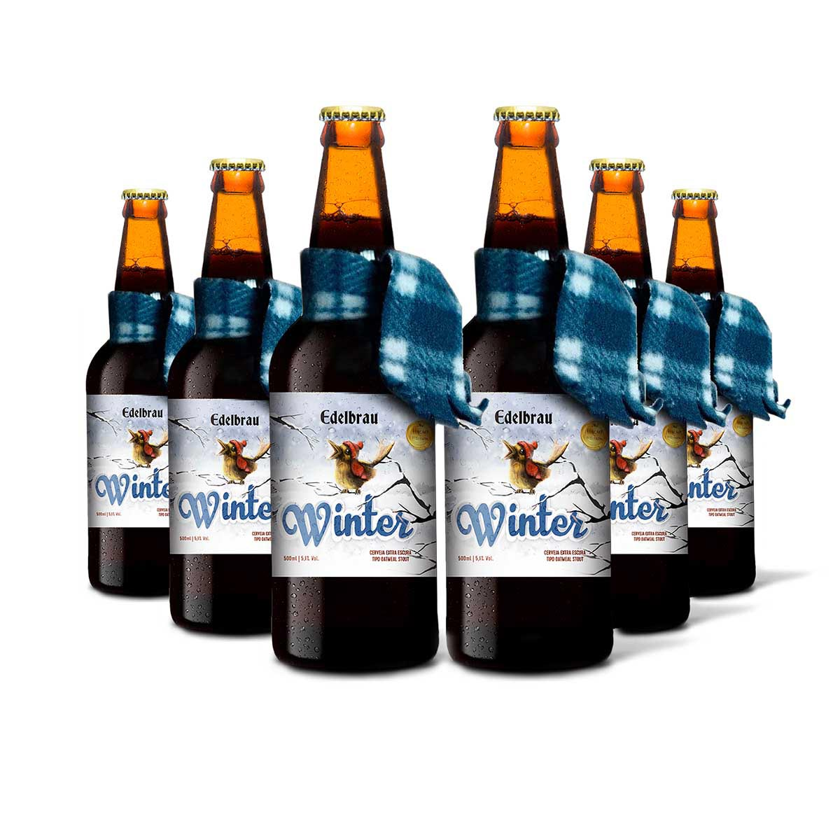 Pack Edelbrau Stout Winter 6 cervejas 500 ml  - RS BEER - Cervejas Gaúchas